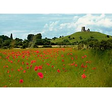 Burrow Mump Poppies Photographic Print
