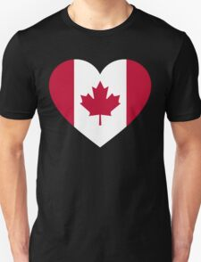 Canada flag heart Unisex T-Shirt