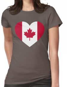Canada flag heart Womens Fitted T-Shirt
