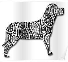 Paisley Yin Yang Dog Poster