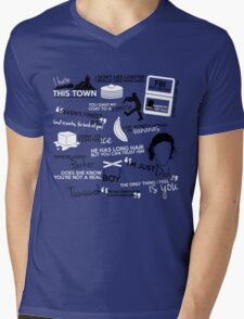 """""""Haven""""ly Quotes Mens V-Neck T-Shirt"""