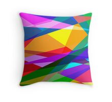 Storm of Colors Throw Pillow