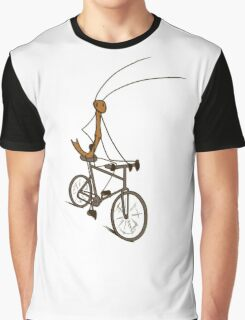 Stick Bug Cyclist Graphic T-Shirt