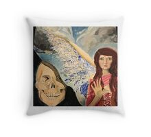 In death we dream of angels Throw Pillow