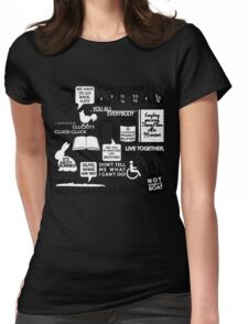 Lost Quotes Womens Fitted T-Shirt