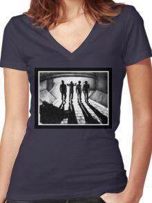 A clockwork... Women's Fitted V-Neck T-Shirt