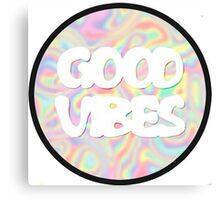 "Unisex ""Good Vibes"" Tie-Dye Shirt Canvas Print"
