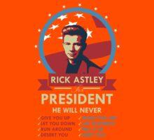 Rick Astley for President Kids Tee