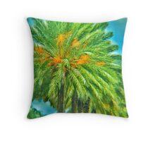 Fish-eyed Palm Throw Pillow