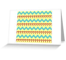 Doctor Who - Seventh Doctor Question Mark Jumper Design Greeting Card