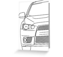 Evo 10 outline - black Greeting Card