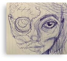 Cyber girl, a mixup Canvas Print