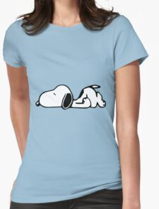 Snoopy Lazy Womens Fitted T-Shirt