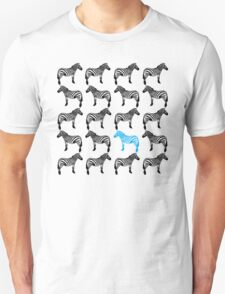 One Blue Zebra in the Herd T-Shirt