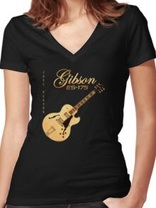 Gibson ES 175 Jazz Player Women's Fitted V-Neck T-Shirt