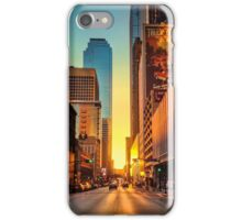 Elm Street Sunset, Dallas iPhone Case/Skin