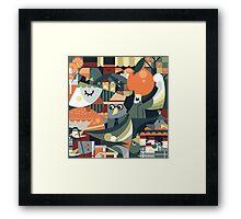 orange business Framed Print