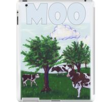 Mooing Cows Graze in a Wisconsin pasture iPad Case/Skin
