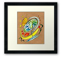 Where are you off to? Framed Print