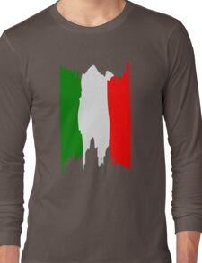 Italy flag art Long Sleeve T-Shirt