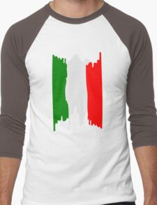 Italy flag art Men's Baseball ¾ T-Shirt