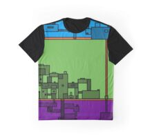 """""""Connected"""" - City in the Sky Graphic T-Shirt"""