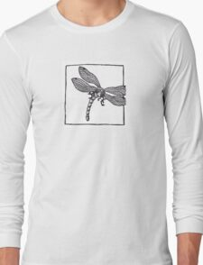 Graphic Dragonfly Long Sleeve T-Shirt