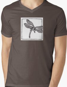 Graphic Dragonfly Mens V-Neck T-Shirt