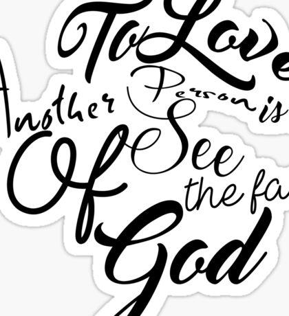 Face Of God Sticker