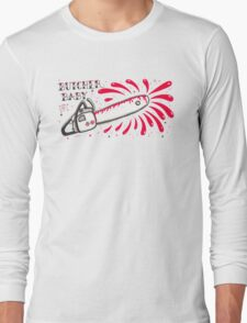 Butcher Baby on White Long Sleeve T-Shirt