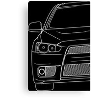 Evo 10 outline - white Canvas Print