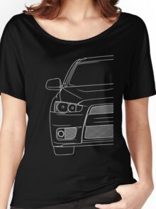 Evo 10 outline - white Women's Relaxed Fit T-Shirt