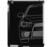 Evo 10 outline - white iPad Case/Skin
