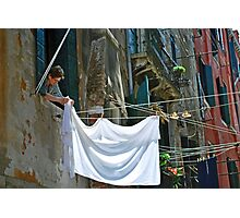 Venice Laundry Photographic Print