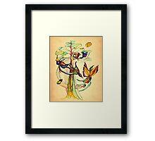 Birds Gossip  Framed Print