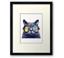 Rick and Morty Cat Framed Print