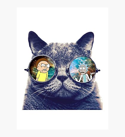 Rick and Morty Cat Photographic Print