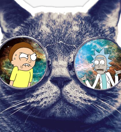 Rick and Morty Cat Sticker