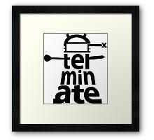 Dalek Exterminate Framed Print