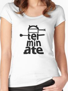 Dalek Exterminate Women's Fitted Scoop T-Shirt