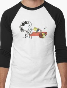 play music group snoopy Men's Baseball ¾ T-Shirt