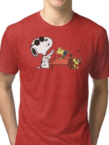 play music group snoopy Tri-blend T-Shirt