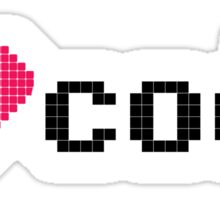 I love code - Pixel version Sticker