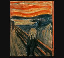 The Scream, Edvard Munch, Man at bridge holding head with hands and screaming Unisex T-Shirt