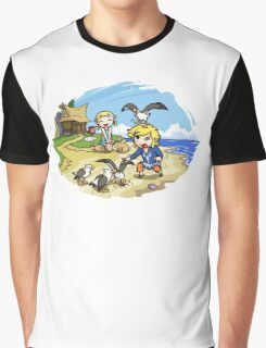Zelda Wind Waker Link and Aril Graphic T-Shirt