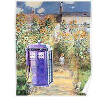 The Doctor in Monet's Garden Poster
