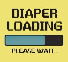 DIAPER LOADING FUNNY Kids Tee