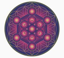Metatron's Cube on Flower of Life Kids Tee