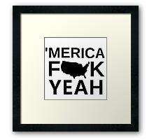 Merica Framed Print