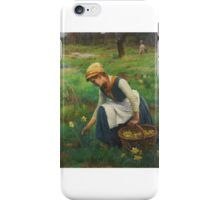 William Banks Fortescue - Picking Daffodils iPhone Case/Skin